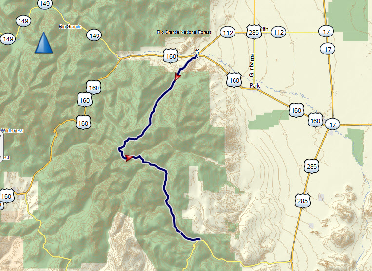 Ghost Town Colorado Map.Summitville Trail
